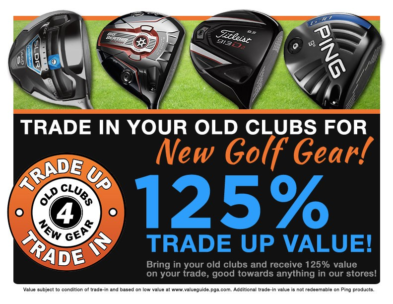 pro golf discount trade in