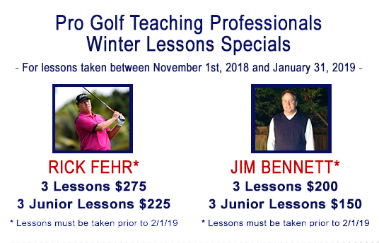 Pro Golf Winter Lessons Specials