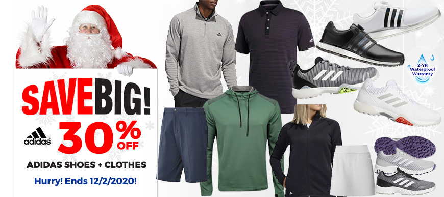 30% Off Adidas Shoes and Apparel