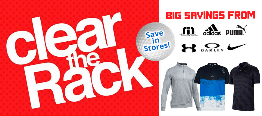 Clear the Rack at Pro Golf Stores