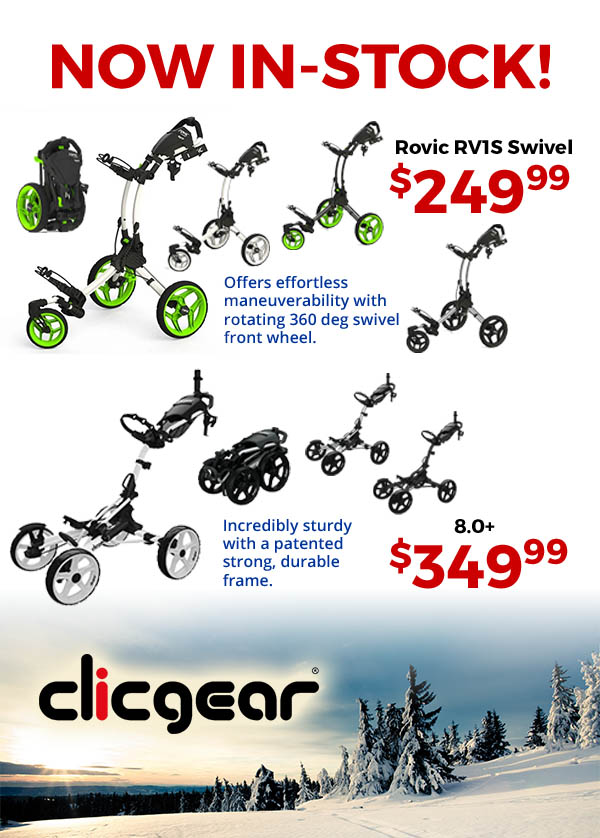 Clicgear Carts are now in stock in stores!