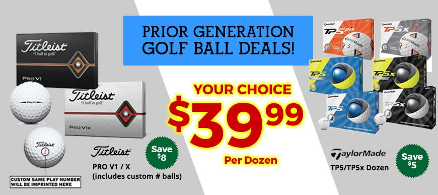 Prior Gen Balls on Sale $39.99