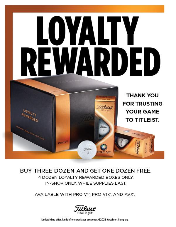 Titleist loyalty box