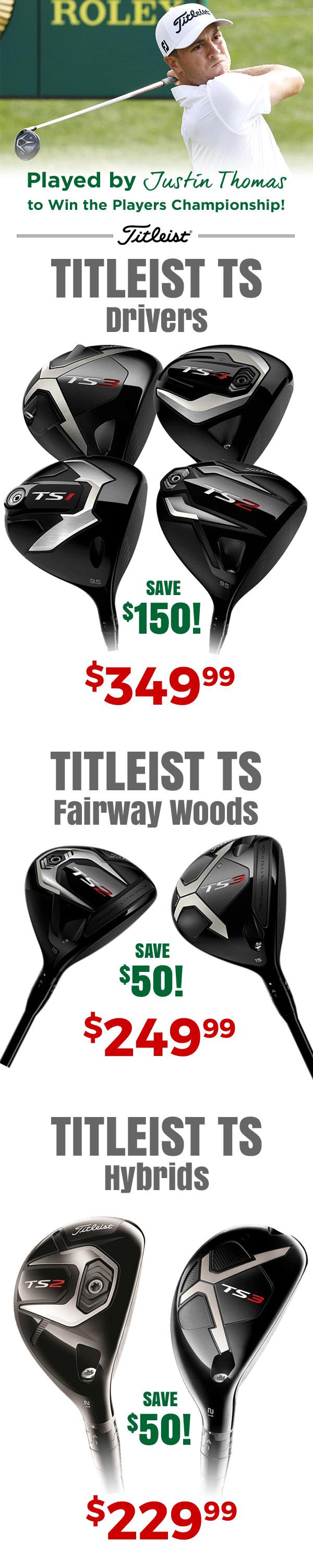 Titleist TS Woods on sale